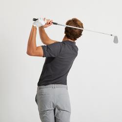 男款溫暖天氣高爾夫球POLO衫-刷色黑
