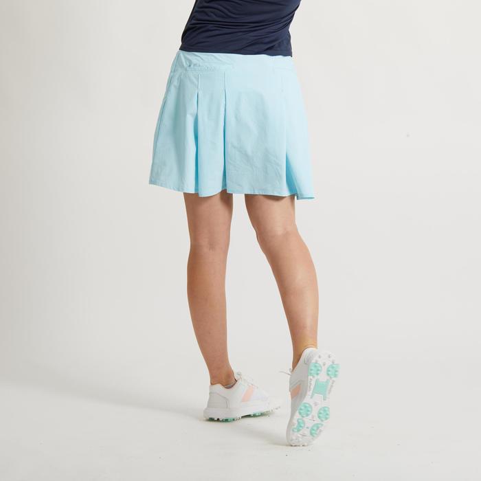 Saia-calção de Golf WW500 Mulher Azul claro