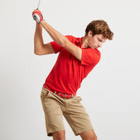 Men's Golf Short Sleeve Polo Shirt - Red