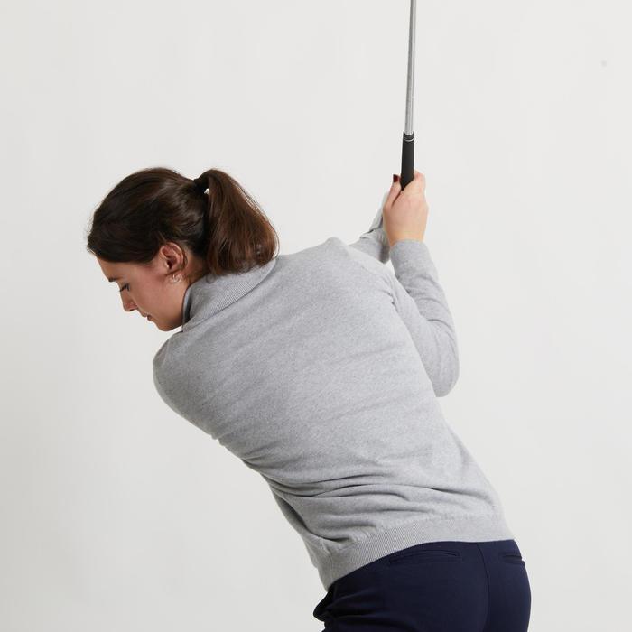 Pull de golf coupe-vent femme MW500 gris