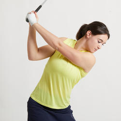POLO DE GOLF SANS MANCHES ULTRALIGHT FEMME JAUNE