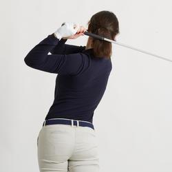 Women's Golf Long Sleeve Polo Shirt - Navy Blue