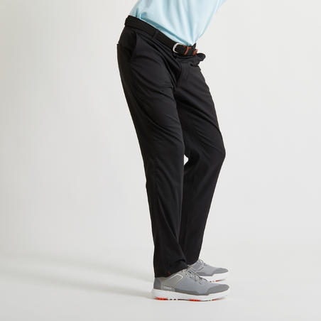 MEN'S BREATHABLE GOLF TROUSERS BLACK