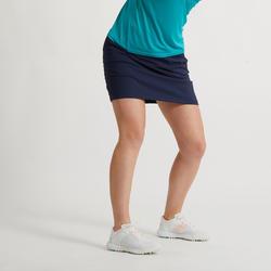 女款溫和氣候高爾夫褲裙-軍藍色