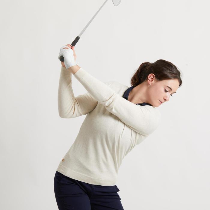 Golftrui voor dames crèmewit