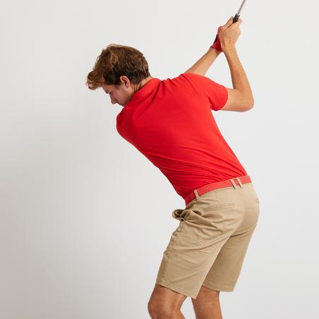 Vīriešu īspiedurkņu golfa polo krekls, sarkans