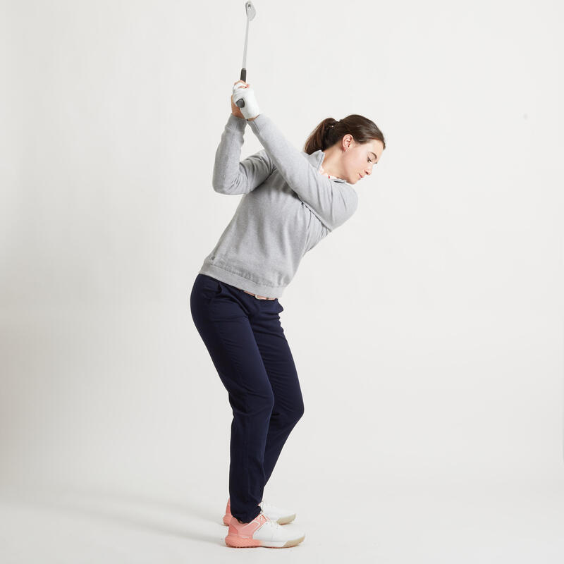 Jersey Cortaviento Golf Mujer Gris