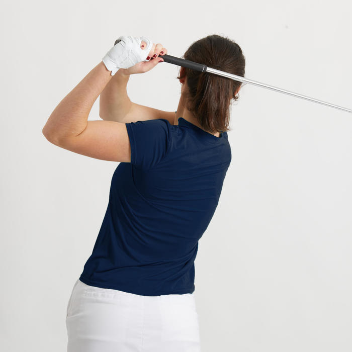 POLO DE GOLF ULTRALIGHT FEMME BLEU MARINE