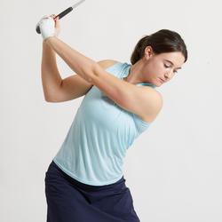 Mouwloze golfpolo voor dames Ultralight lichtblauw