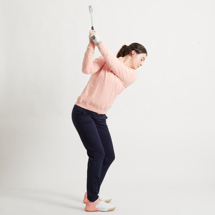PULL COUPE VENT DE GOLF FEMME TEMPS TEMPERE ROSE