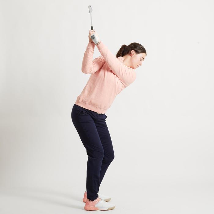 Winddichte golftrui voor dames zacht weer roze