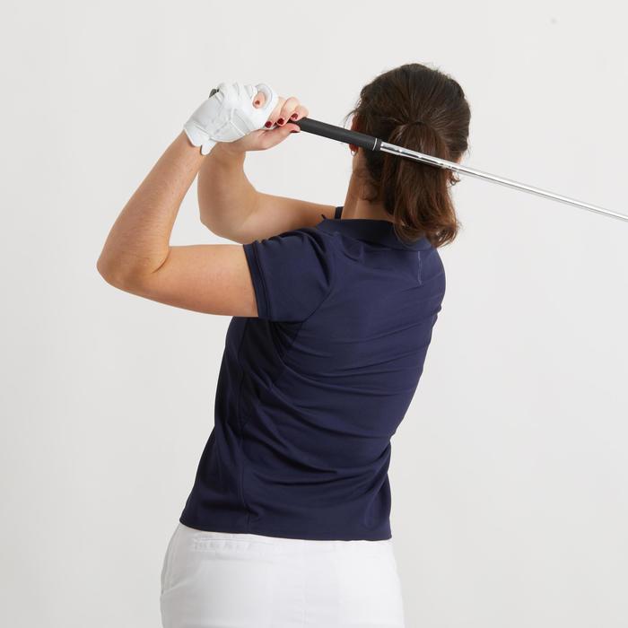 Golfpolo voor dames marineblauw