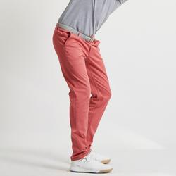 Golfbroek voor heren donkerroze