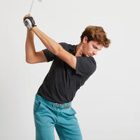Polo de golf manches courtes homme MW500 gris foncé chiné