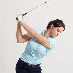 Golfpolo voor dames lichtblauw
