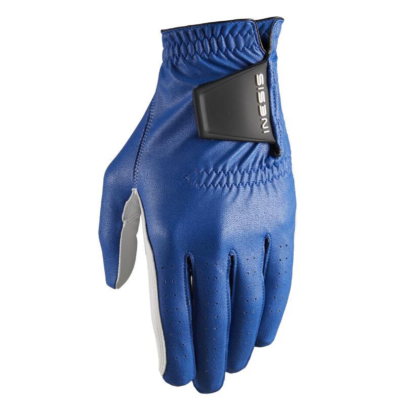 Men's golf right-handed soft glove indigo blue