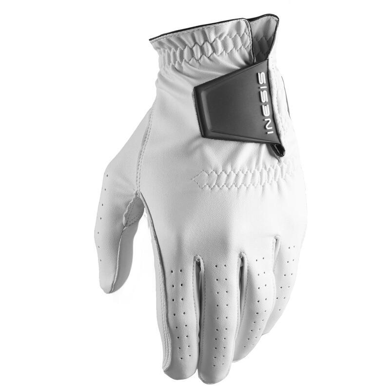 Golfhandschoen voor heren Soft rechtshandig wit