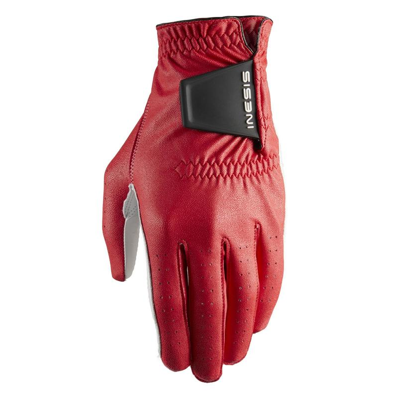 Men's golf soft right-handed glove red