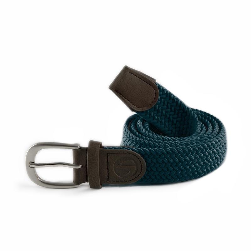 Dark petrol adult stretchy golf belt size 2