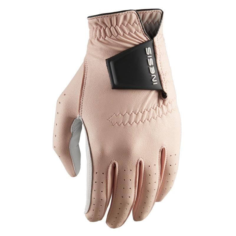 Women's right-handed soft golf glove pink