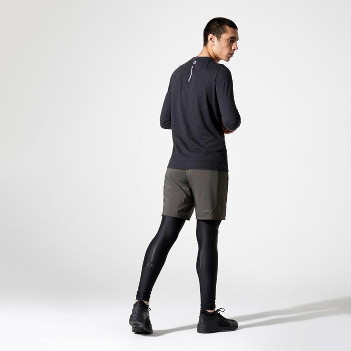 跑步長袖T恤RUN DRY+ - 黑色