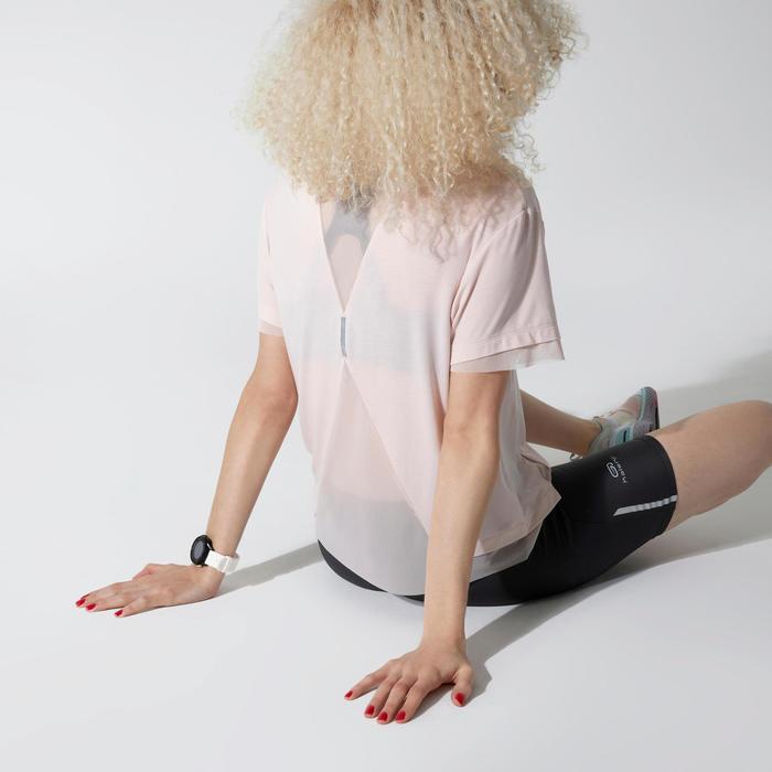 TSHIRT RUN FEEL JOGGING FEMME ROSE CLAIR