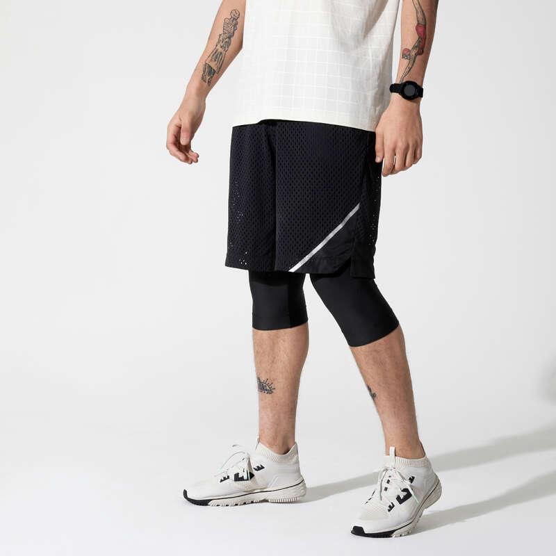 JOGGINGKLÄDER SOM ANDAS, HERR Löpning och jogging - SHORTS 2-i-1 DRY+ BREATHE Herr KALENJI - Löparkläder, Herr