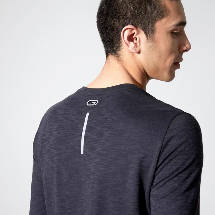 男款跑步長袖T恤Run Dry+ - 黑色
