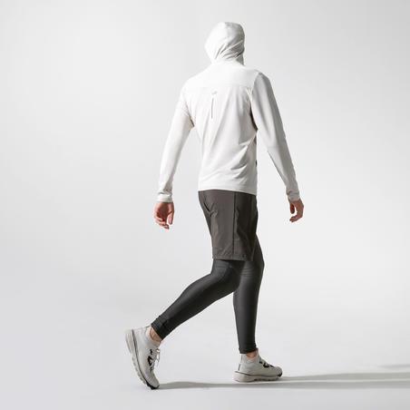 KALENJI DRY + FEEL MEN'S BREATHABLE RUNNING HOODIE - LINEN BEIGE