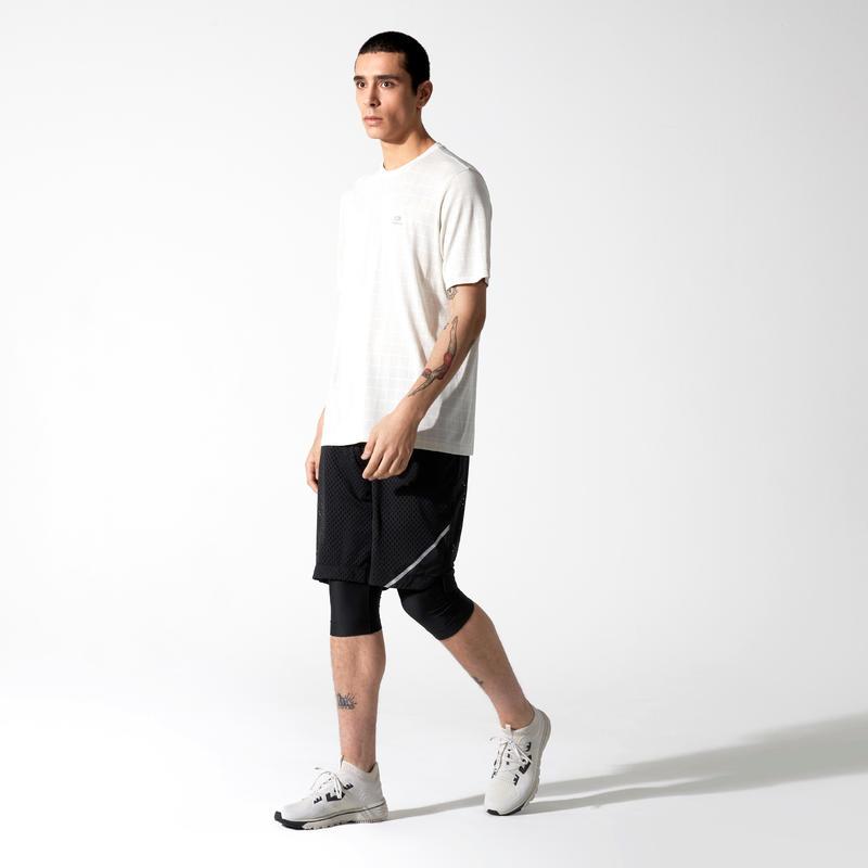 RUN DRY + BREATHE MEN'S LONG RUNNING SHORTS BLACK