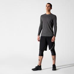 Men's Running Breathable Long-Sleeved T-Shirt Kalenji Dry+ - grey