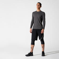 RUN DRY+ LONG-SLEEVED RUNNING T-SHIRT - GREY