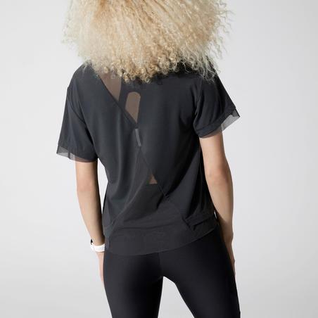 """Sieviešu skriešanas T krekls """"Run Feel"""", ogļu pelēks"""