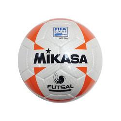 Bola de Futsal Mikasa Oficial 63cm Branco/Laranja FLL555-P-W-WOR