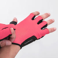 500 Road Cycling Gloves Neon Pink