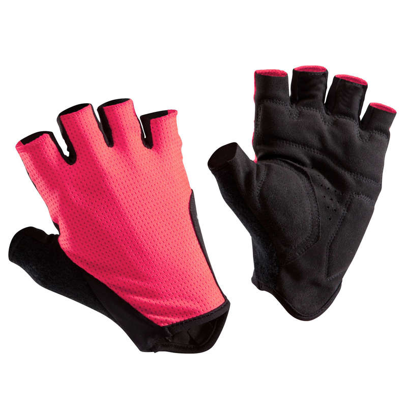 BIKE GLOVES WARM WEATHER Cycling - RC 500 Cycling Gloves - Pink TRIBAN - Clothing