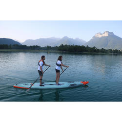 """TOURING INFLATABLE STAND-UP PADDLE BOARD X500 TANDEM / 15""""-35' GREEN"""