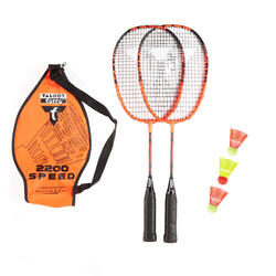 Set de 2 raquetes Crossminton + 3 volantes Speed 2200