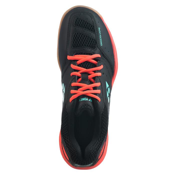 Sportschoenen voor badminton squash zaalsporten Power Cushion 30 zwart/rood