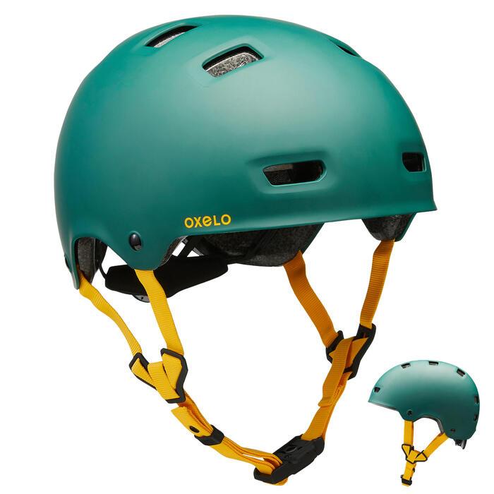 Casque roller skateboard trottinette MF540 Urban Green