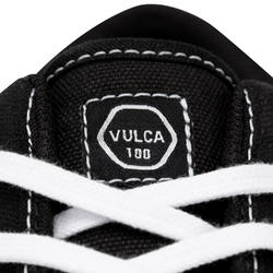 Adult Low-Top Skateboarding Longboarding Shoes Vulca 100 - Black/White