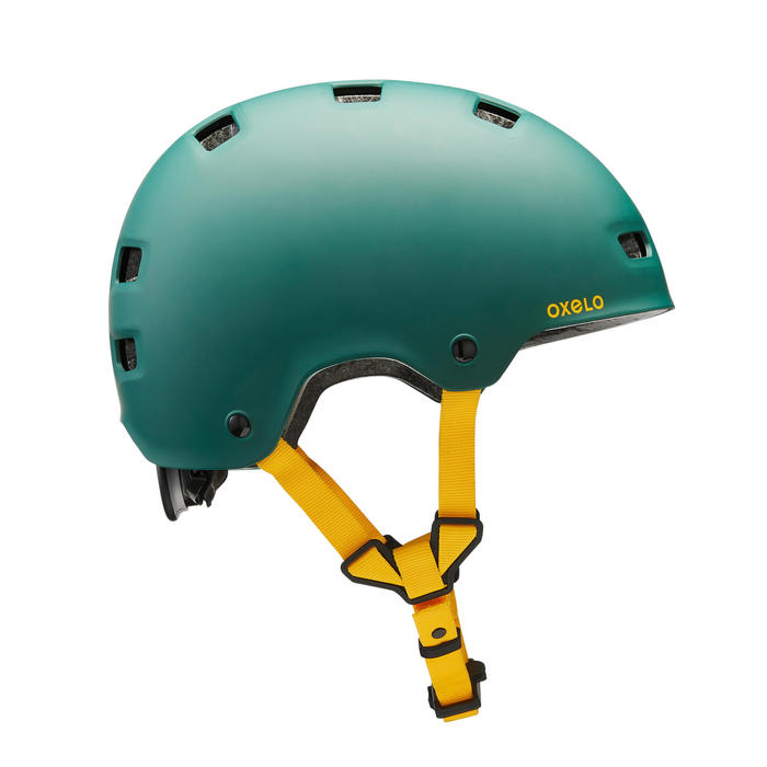 Helm voor skeeleren skateboarden steppen MF540 Urban Green