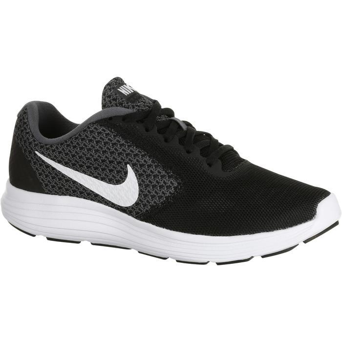 Chaussures marche sportive femme Revolution 3 noir / blanc - 182239
