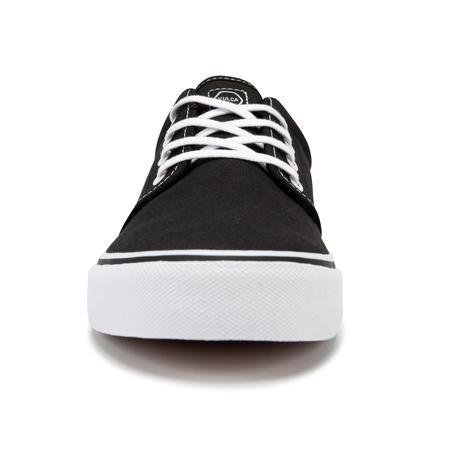 Tenis skate - longboard caña baja VULCA 100 CANVAS negro blanco
