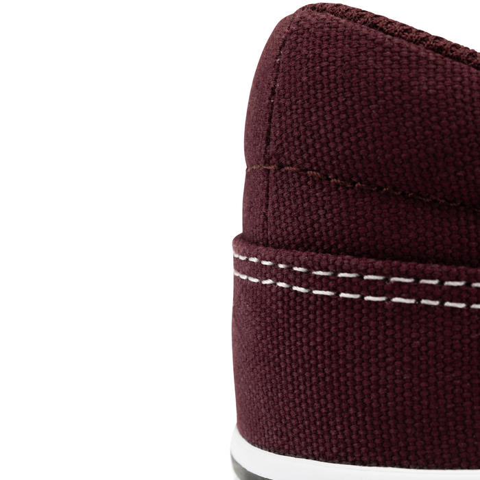 Adult Low-Top Skateboarding Longboarding Shoes - Burgundy/White