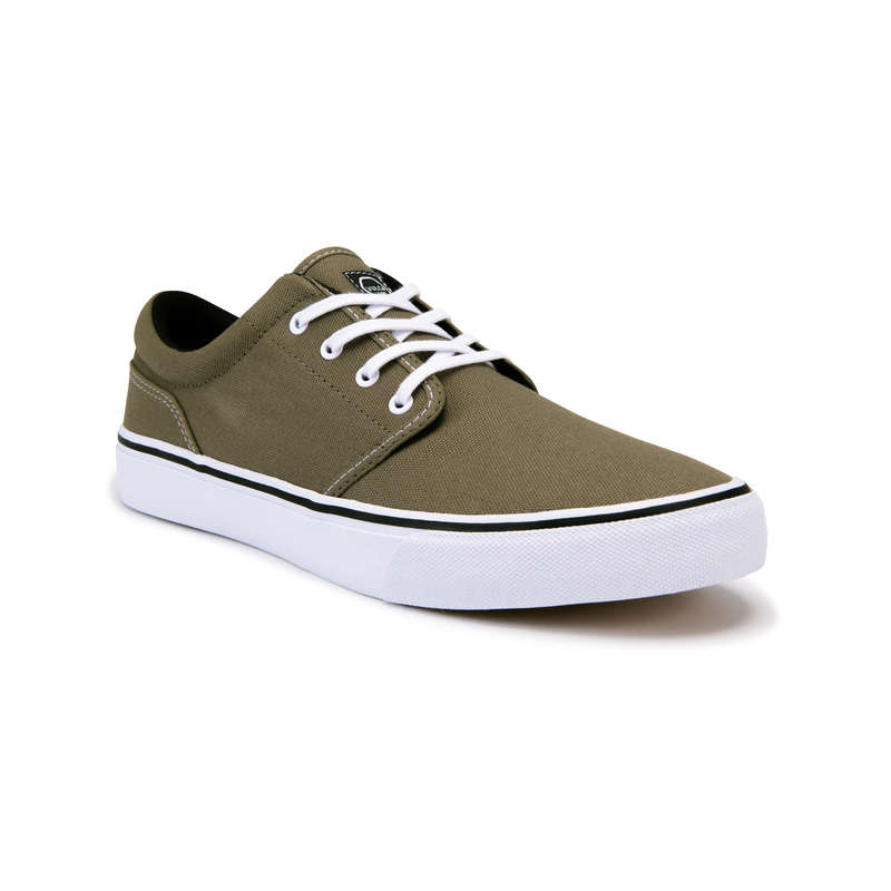 ADULT SKATEBOARD SHOES Skateboarding and Longboarding - Vulca 100 Khaki NW OXELO - Skateboarding and Longboarding