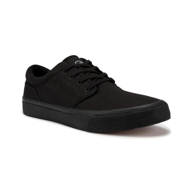 Adult Low-Top Skateboarding Longboarding Shoes Vulca 100 - Triple Black