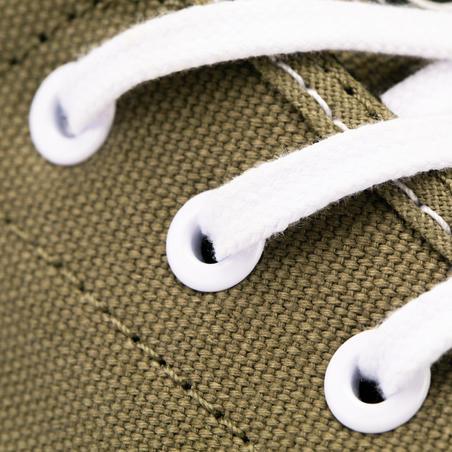 Sepatu Skateboard Longboard Vulca 100 Bagian Atas Rendah Untuk Dewasa - Khaki NW