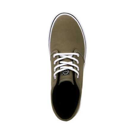 Adult Skateboarding Longboarding Low-Top Shoes Vulca 100 - Khaki/White