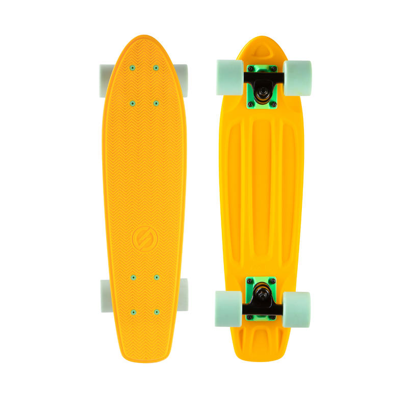 Cruiser Skateboard Yamba 100 - Yellow/Green